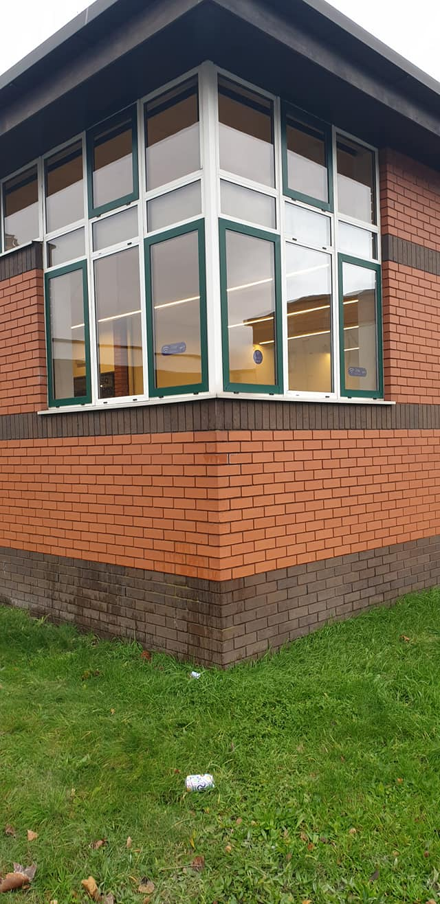 A recent window cleaning job in time for the re-opening of Flint Library.: Local Domestic & Commercial Cleaning Services Contractors Near Me in Flintshire, Denbighshire, Wrexham, Cheshire, Wirral, Chester, Liverpool, Cheshire, Shotton, Connah's Quay, Queensferry, Hawarden, Ewloe, Drury, Buckley, Mynydd Isa, Northop, Northop Hall, Mold, Garden City, Saughall, Blacon, Chester, Pentre, Sandycroft, Mancot, Sychdyn, Alltami, Pen Y Ffordd, Higher Kinnerton, Deeside, Chester, Mold and Nearby Areas.