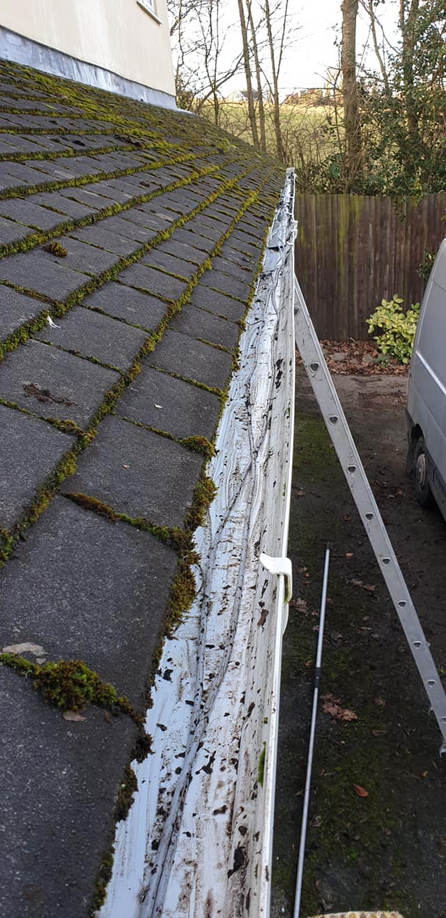 Do your gutters need clearing? Here is a job we completed last week in Hawarden. We managed to get 5 bin bags of muck out of the gutters from this property. Up to 25% off this week. Like our page  Share our page  Book today: Local Domestic & Commercial Cleaning Services Contractors Near Me in Flintshire, Denbighshire, Wrexham, Cheshire, Wirral, Chester, Liverpool, Cheshire, Shotton, Connah's Quay, Queensferry, Hawarden, Ewloe, Drury, Buckley, Mynydd Isa, Northop, Northop Hall, Mold, Garden City, Saughall, Blacon, Chester, Pentre, Sandycroft, Mancot, Sychdyn, Alltami, Pen Y Ffordd, Higher Kinnerton, Deeside, Chester, Mold and Nearby Areas.