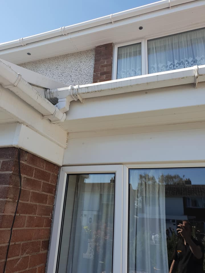 Gutter, fascia and soffit cleaning including gutter clearance carried out today in Mold in Flintshire, North Wales.: Local Domestic & Commercial Cleaning Services Contractors Near Me in Flintshire, Denbighshire, Wrexham, Cheshire, Wirral, Chester, Liverpool, Cheshire, Shotton, Connah's Quay, Queensferry, Hawarden, Ewloe, Drury, Buckley, Mynydd Isa, Northop, Northop Hall, Mold, Garden City, Saughall, Blacon, Chester, Pentre, Sandycroft, Mancot, Sychdyn, Alltami, Pen Y Ffordd, Higher Kinnerton, Deeside, Chester, Mold and Nearby Areas.